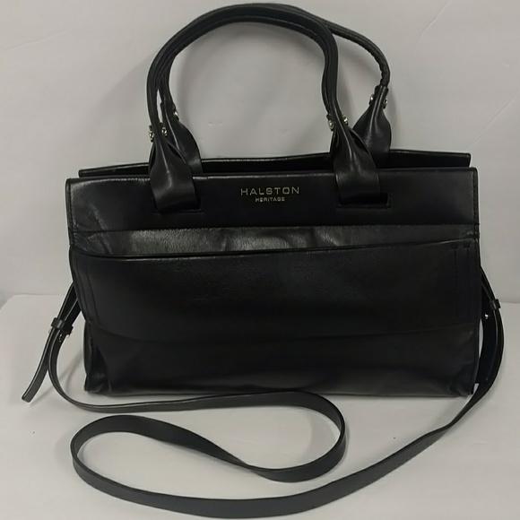 4fb74202b9bb Halston Heritage Handbags - Halston Heritage Leather Doctor Satchel Purse  Bag